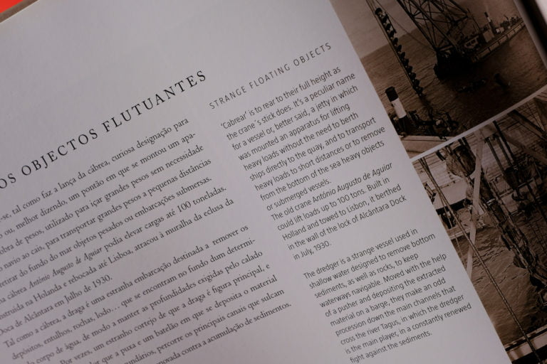 pormenor do livro sobre Porto de Lisboa