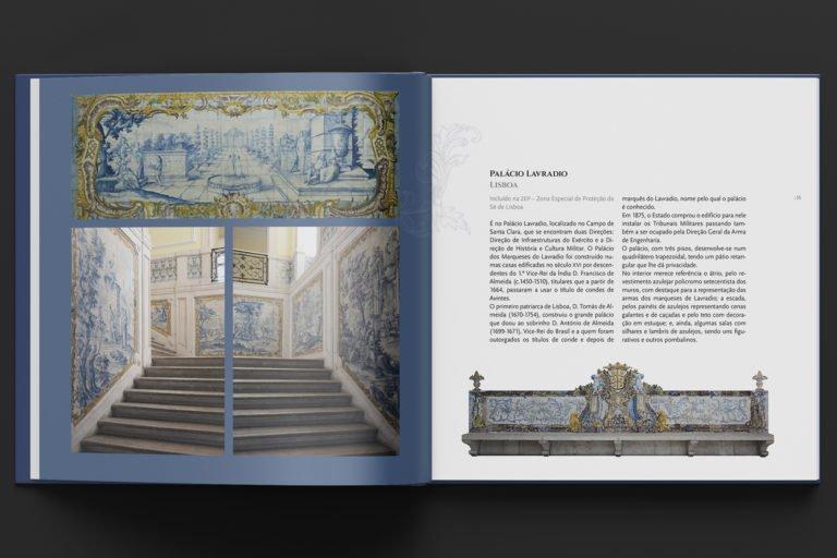 interior do livro O Exercito e o Azulejo