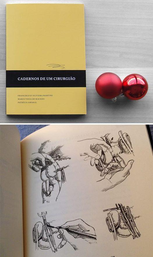 """""""Cadernos de um cirurgião"""":  Um dos poucos """"atlas cirúrgicos"""" existentes em port…"""