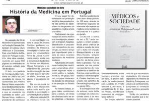 """Mais um artigo que nos chega de Coimbra, de um dos autores de """"Médicos e Socieda…"""