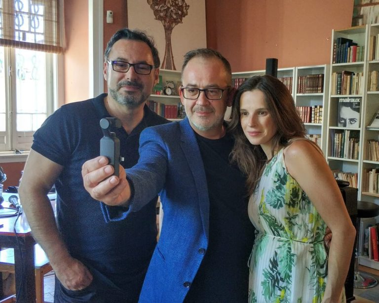 O nosso estimado autor Eduardo Arimateia com o jornalista José Alberto Carvalho …