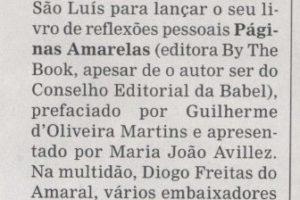 """""""Páginas Amarelas"""" no semanário Sol!"""