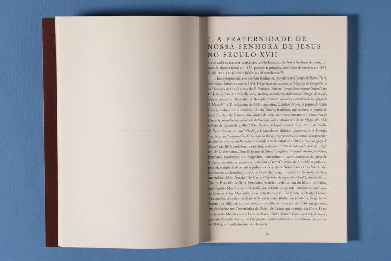 interior do livro sobre Ordem Terceira