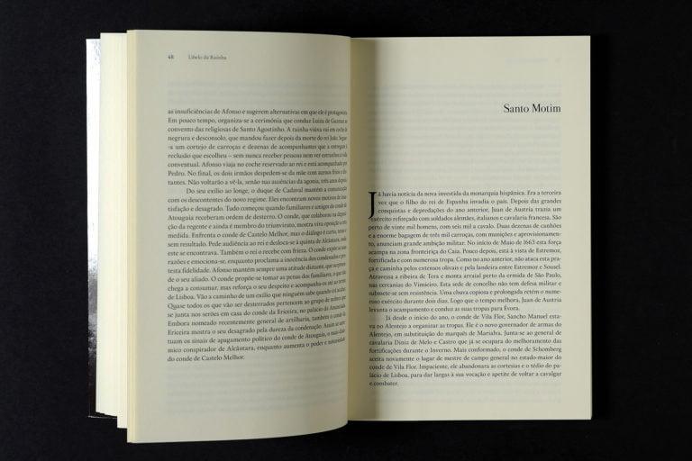 interior do livro Libelo da Rainha